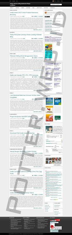 Screenshot Page potter.web.id