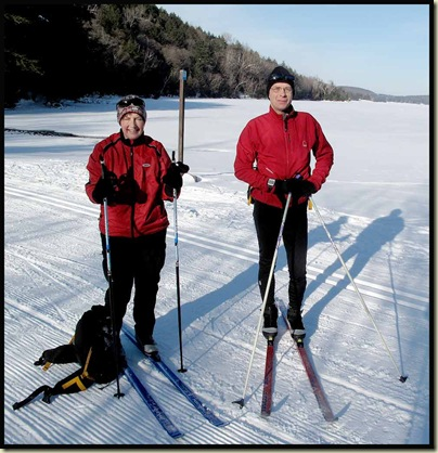 Helen and Ken at the head of Lac Philippe on 24 January 2010
