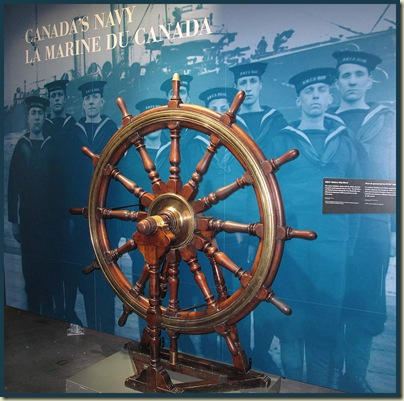 HMCS Rainbow's ship's wheel