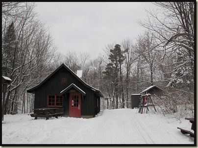 Huron cabin - quiet and overcast on 27/1/10