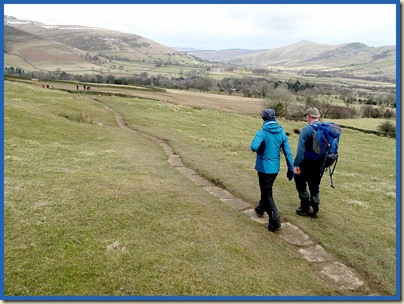 The Pennine Way above Barber Booth