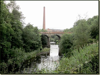 Industrial scene above the River Tame at Dukinfield