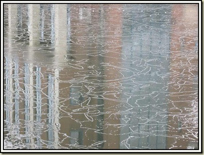 Ice on the Bridgewater Canal in Altrincham - 2/1/11