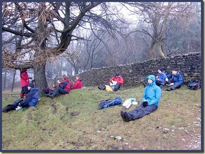 Lunch below Arnside Knott