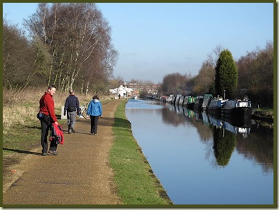 The refreshed towpath between Dane Road and Stretford