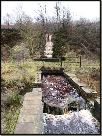 Well directed water heading from Rollick Stones to Torside Reservoir