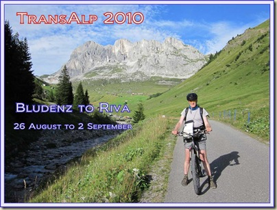 TransAlp 2010 - Slide Show Flier