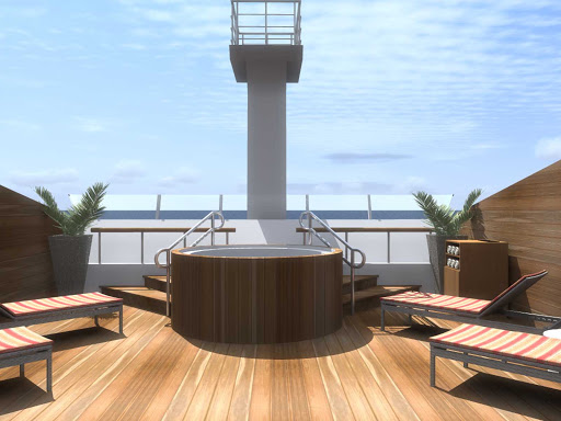 Silver_Explorer_Jacuzzi - Get some sun and soak away your stress on the deck-side Jacuzzi on board Silver Explorer.