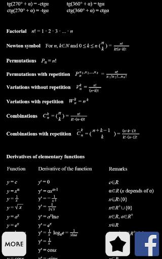 Math Formulas Help