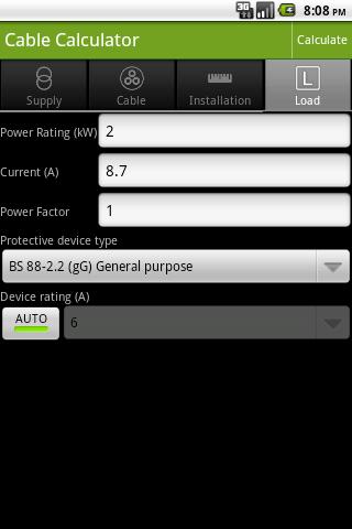 Cable Calculator- screenshot