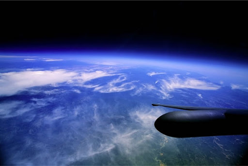 The apparent curvature of the Earth