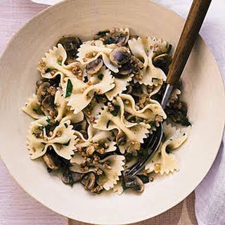 Pasta with Mushrooms and Kasha.