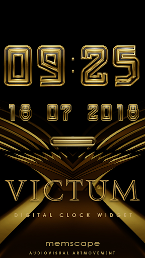 VICTUM Digital Clock Widget