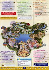 Mapa de Islands of Adventure Orlando
