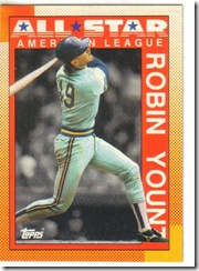 Robin Yount Topps 90 Leader