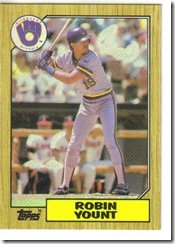 Robin Yount 87 Topps
