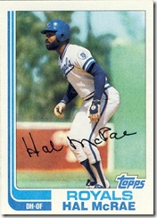 Hal McRae Topps 82