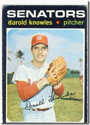 Topps 71 Darold Knowles