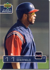 Upper Deck First Pitch Gary Sheffield