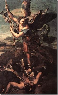 San_Michele_sconfigge_satana_(di_Raffaello_Sanzio_1518)