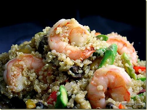 Quinoa Salad With Shrimp And Asparagus Recipe House Of Annie