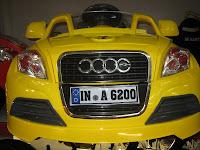 1 Mobil Mainan Aki Doestoys DT80 Audi 2 Kursi