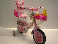 2 Sepeda Anak AXXIL Happy  Sandaran 12 Inci