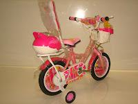 4 Sepeda Anak AXXIL Happy  Sandaran 12 Inci