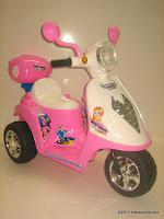 Motor Mainan Aki JUNIOR TR0903 Scoopy in Pink