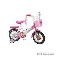 Sepeda Anak WIMCYCLE STRAWBERRY SHORTCAKE 12 Inci