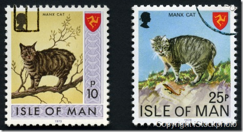 Manx cat stamps