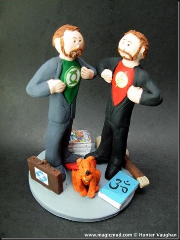 Custom Wedding Cake Toppers Gay Superhero S Wedding Cake Topper
