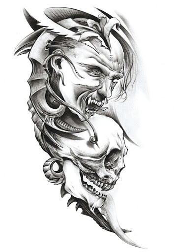 Black And Grey Tattoo Stencil: Tattos Josh: Using Colour And Black And Grey Shading Will