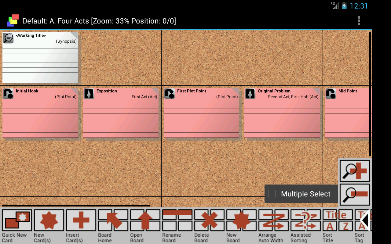 CardBoard Index Cards - screenshot