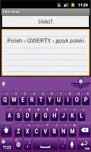 SlideIT Polish QWERTY Pack- screenshot thumbnail