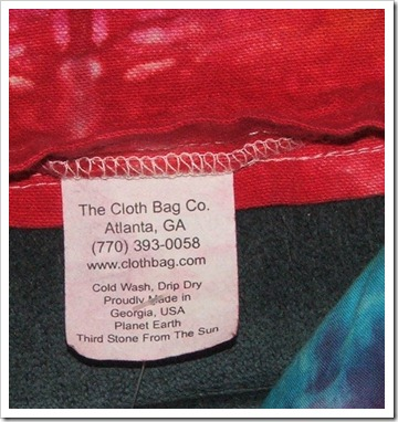 Cloth bag co label