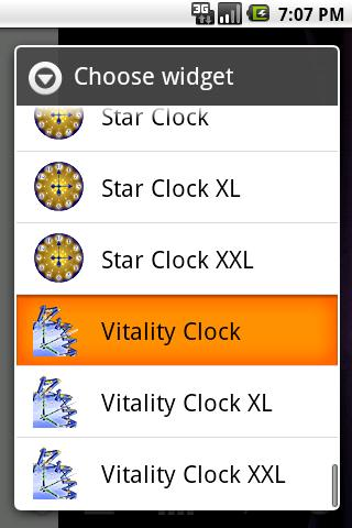 Vitality Clock - screenshot
