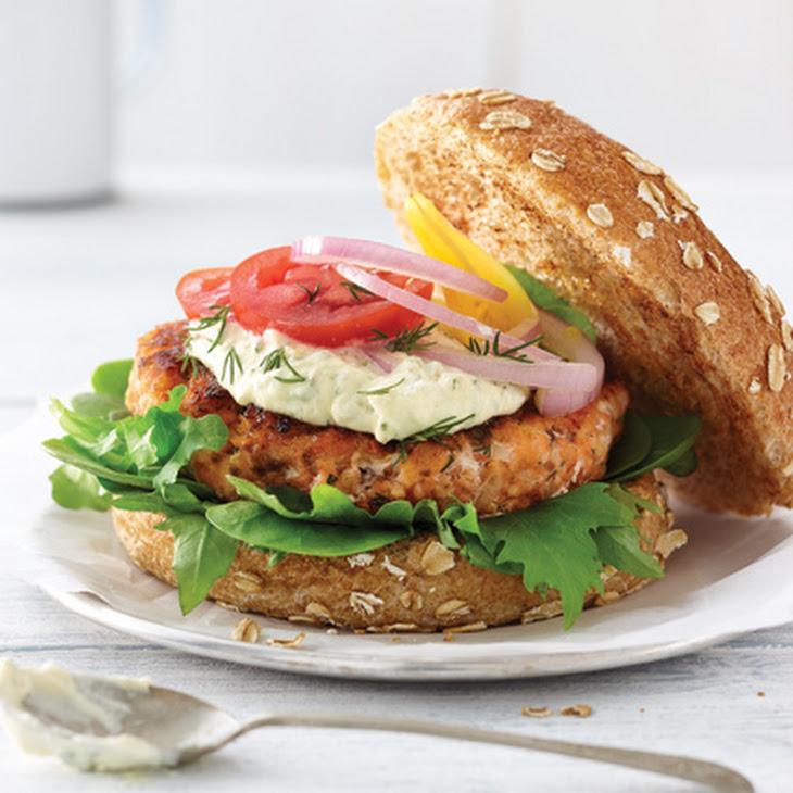 Smoked Salmon Burger with Lemon Aioli Recipe