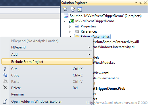 Using EventTrigger in XAML for MVVM – No Code Behind Code | Kunal