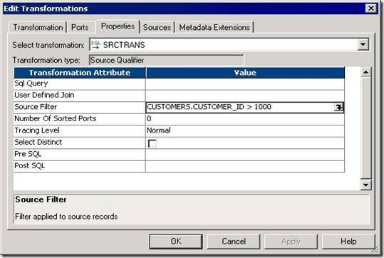 Complete reference to Informatica: SOURCE QUALIFIER T/F