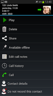 Automatic Call Recorder - screenshot thumbnail