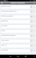 Screenshot of Aviation Checklist