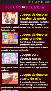 Juegos de decorar - screenshot thumbnail