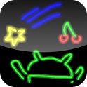 Drawing neon icon