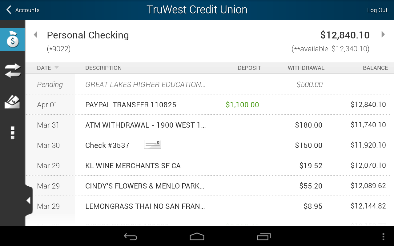 TruWest Credit Union - screenshot