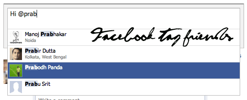 facebook tag friends with jquery