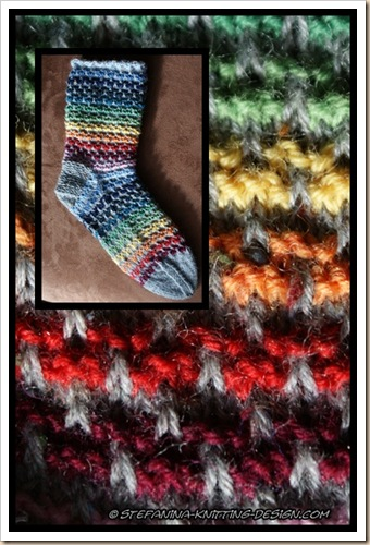 Color wheel socks montage