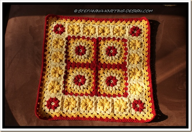 Granny floral square  - cushion 1
