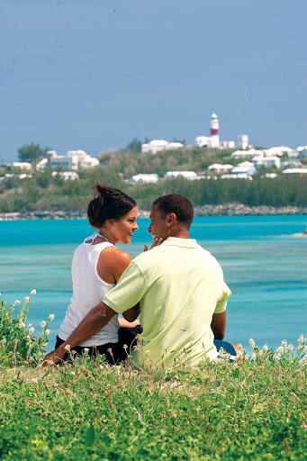 A couple at Turtle Bay, Bermuda.