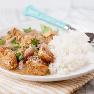 Basil Chicken in Coconut Sauce.